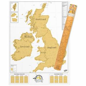 Luckies of London Scratch Map - UK Edition