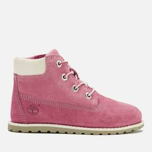 Timberland Toddlers' Pokey Pine Leather 6 Inch Zip Boots - Pink - UK 11.5 Toddlers