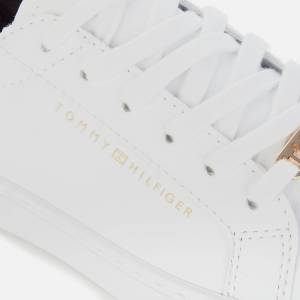 Tommy Hilfiger Women's Venus Leather Essential Trainers - White - UK 7