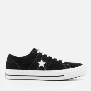 Converse One Star Ox Trainers - Black/White/White - UK 11