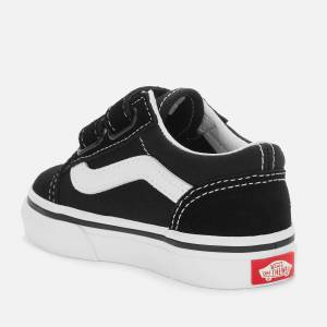 Vans Toddler's Old Skool Velcro Trainers - Black - UK 3 Toddler