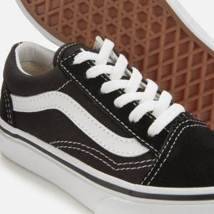 Vans Kids' Old Skool Trainers - Black/True White - UK 11 Kids