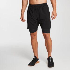MP Men's Essentials 2-in-1 Training Shorts - Black - XXXL