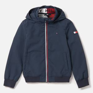Tommy Hilfiger Boys' Essential Jacket - Black Iris - 7 Years