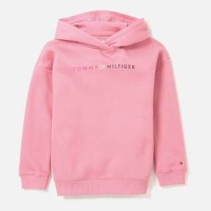 Tommy Hilfiger Girls' Logo Long Line Hoody - Sea Pink - 8 Years