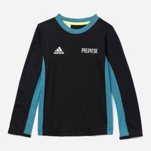 adidas Boys' Young Boys Predator LS Jersey - Black - 5-6 Years