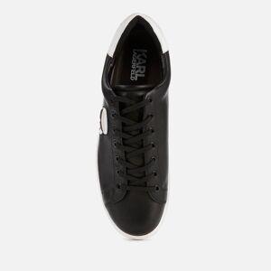 Karl Lagerfeld Men's Kourt Karl Ikonic 3D Lace Leather Trainers - Black - UK 7