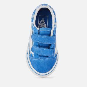 Vans Toddlers' Racers Edge Old Skool Velcro Trainers - Blue/True White - UK 7 Toddler