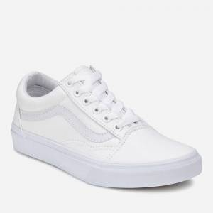 Vans Old Skool Trainers - True White - UK 7