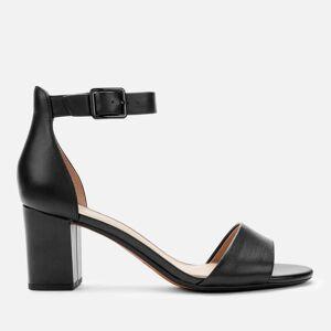 Clarks Women's Deva Mae Leather Block Heeled Sandals - Black - UK 8