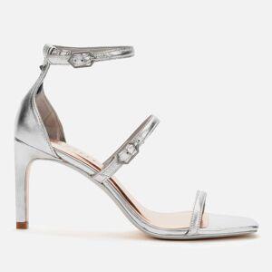 Ted Baker Women's Triam Metallic Triple Strap Sandals - Silver - UK 8