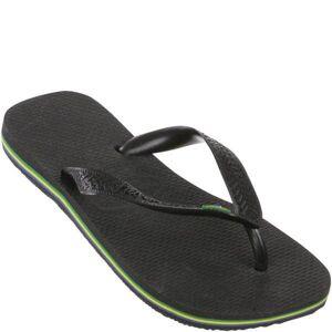 Havaianas Brasil Flip Flops - Black - EU 39-40/UK 6-7 - Black
