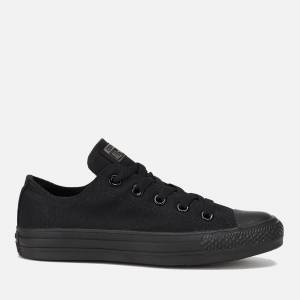 Converse Chuck Taylor All Star Ox Canvas Trainers - Black Monochrome - UK 7