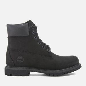 Timberland Women's 6 Inch Nubuck Premium Boots - Black - UK 5
