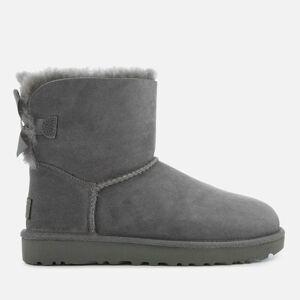 UGG Women's Mini Bailey Bow II Sheepskin Boots - Grey - UK 8