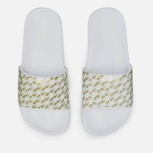 Superdry Women's Repeat Jelly Pool Slide Sandals - Optic White/Gold - M/UK 5-6 - White