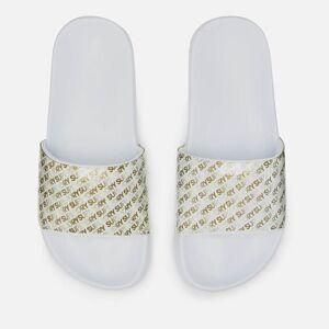 Superdry Women's Repeat Jelly Pool Slide Sandals - Optic White/Gold - S/UK 3-4 - White