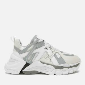 Ash Women's Flash Running Style Trainers - White/Silver - UK 5