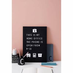 Design Letters A3 Message Board - Black