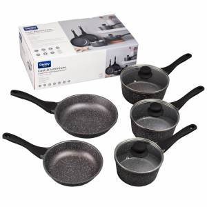 Denby Granite Finish Cast Iron Aluminium 5 Piece Pan Set