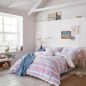 Joules Summer Fruit Stripe Duvet Cover - Pink - King