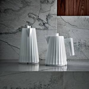 Alessi Electric Kettle - Plisse White - 1.7L