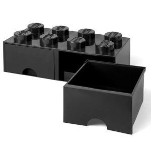 Room Copenhagen LEGO Storage 8 Knob Brick - 2 Drawers (Black)