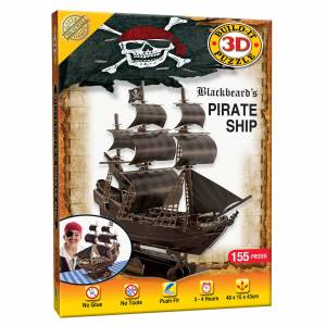 Cheatwell Games Build it 3D Pirate Ship Puzzle