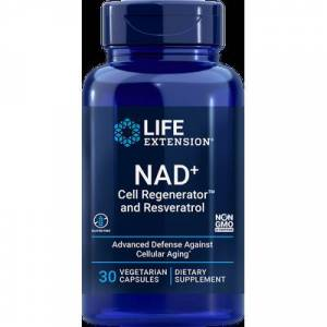 Life Extension NAD+ Cell Regenerator and Resveratrol, 300 mg, 30 vegetarian capsules