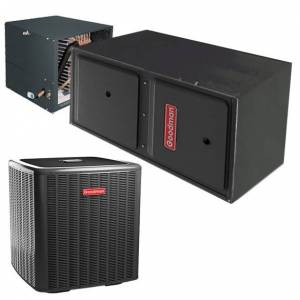2 Ton Goodman 14 SEER Central Air Conditioner 80,000 BTU 96% Efficiency Gas Furnace Horizontal System - Heat and Cool