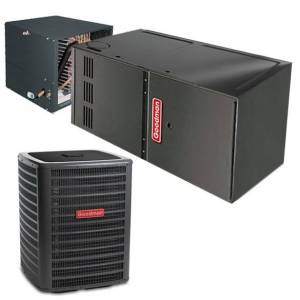 2 Ton Goodman 14 SEER Central Air Conditioner 40,000 BTU 80% Efficiency Gas Furnace Horizontal System - Heat and Cool