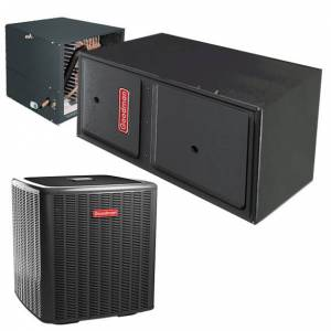 2 Ton Goodman 18 SEER Variable Speed modulating Central Air Conditioner 60,000 BTU 97% Efficiency Gas Furnace Horizontal Left/Right System