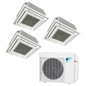 Zone 3-Zone Daikin 18 SEER Multi-Zone Mini-Split Cassette 3-Room Air Conditioner Heat Pump 9+12+12 - Heat and Cool
