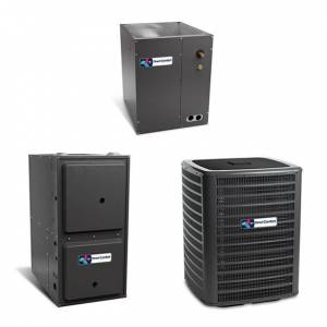 1.5 Ton A/C Direct Comfort 14 SEER Central Air Conditioner 60,000 BTU 96% Efficiency Gas Furnace Upflow System - Heat and Cool
