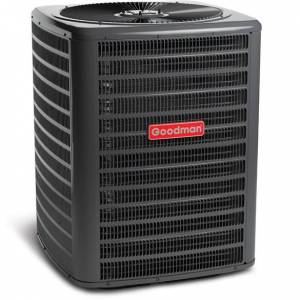 5 Ton Goodman GSZ140601 14 SEER Outdoor Heat Pump Condensing Unit R410A Refrigerant - Heat and Cool