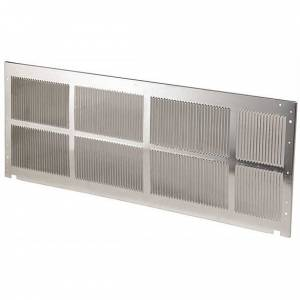 Standard Exterior Stamped Aluminum Grille: Mill Finish - Heat and Cool