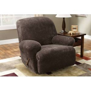 Stretch Royal Diamond One Piece Recliner Slipcover - Recliner / Chocolate