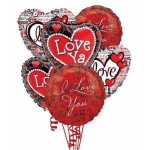 Blooms Today 6 Love & Romance Balloons Flower Delivery