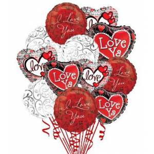 Blooms Today 12 Love & Romance Balloons Flower Delivery