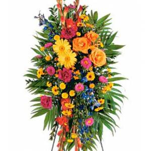 Blooms Today Celebration of Life Standing Spray Flower Delivery
