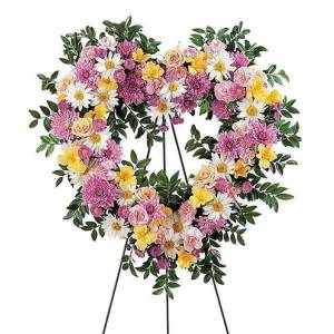 Blooms Today Loving Heart Tribute Flower Delivery