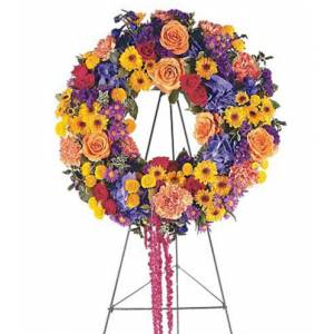 Blooms Today Celebration Wreath Flower Delivery