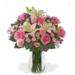Blooms Today Pleasantly Pink Celebration Bouquet Flower Delivery