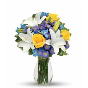 Blooms Today Blue Skies Bouquet Flower Delivery