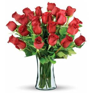 Blooms Today 24 Red Long-Stem Roses Bouquet Flower Delivery