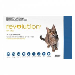 Revolution For Cats 5 -15lbs Blue 6 Doses