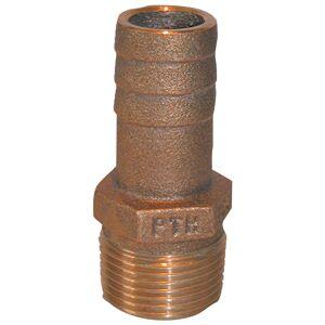 Groco STH-750-W Bronze Scoop Thru-Hull With Nut