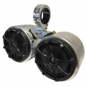 Monster Cable Tower Kicker Double Barrel Speakers With Universal Inserts, Aluminum