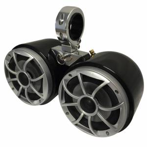 """Monster Cable Tower Wet Sounds Double Barrel Speakers With 2.5"""" Inserts, Black"""