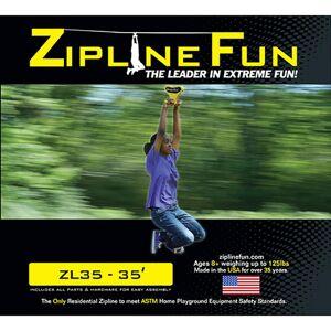 Adventure Parks Inc Adventure Parks Zipline 35, Yellow
